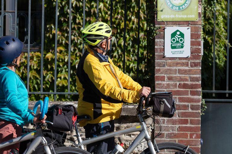 Accueil vélo à Giverny label Nouvelle Normandie