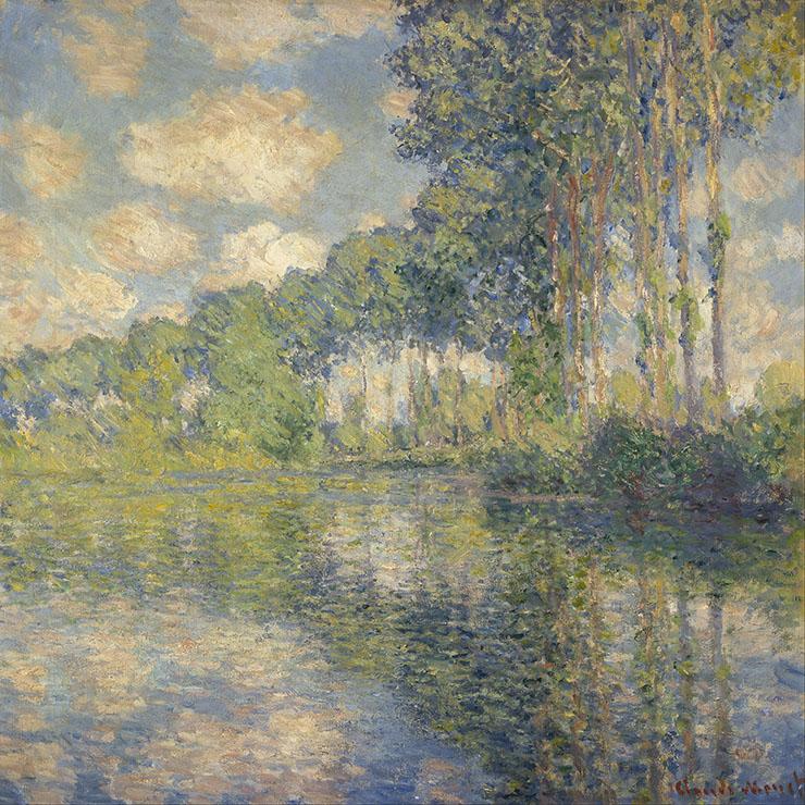 Peupliers au bord de l'eau Claude Monet. Impressionnisme