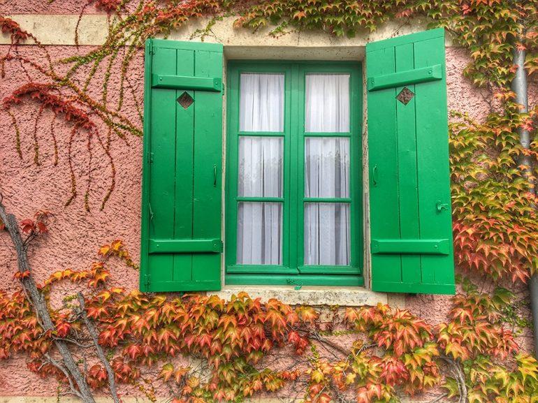 Volet verts. Giverny. Impressionnisme. Nouvelle Normandie