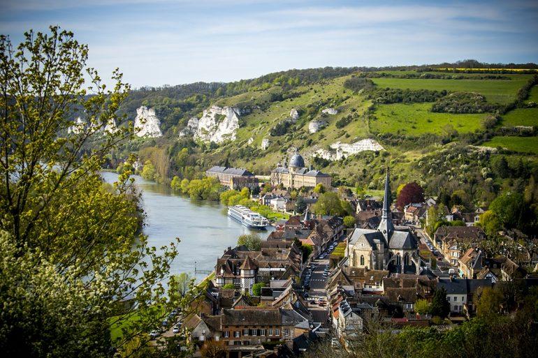 Vue du Petit Andely depuis Chateau-Gaillard-Eure-© Sylvain-Bachelot