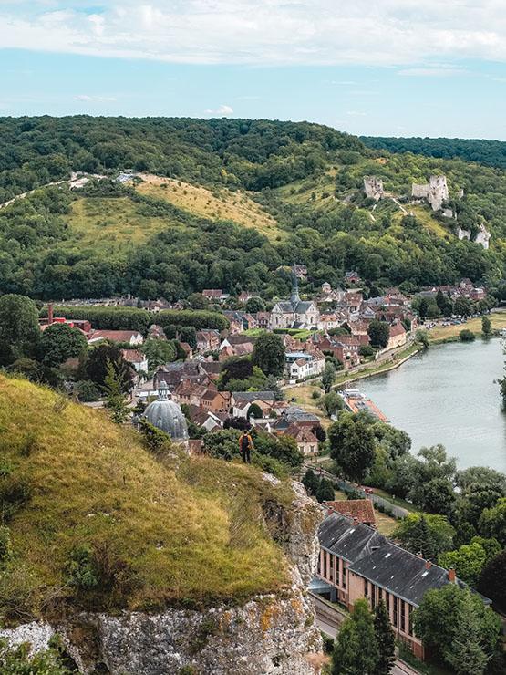 Vue sur Château-Gaillard et le Petit-Andely ©Teddybear-EureTourisme. Tous droits réservés