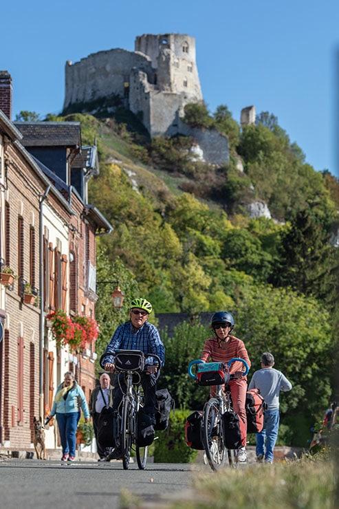 Cyclistes vélo au Petit Andely . Les Andelys ©Flick'R-CD27