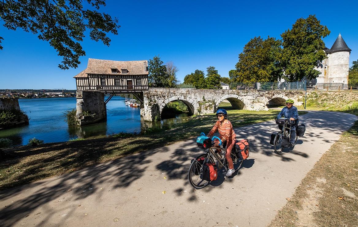 Cyclistes vélo vieux moulin vernon ©Flick'R-CD27