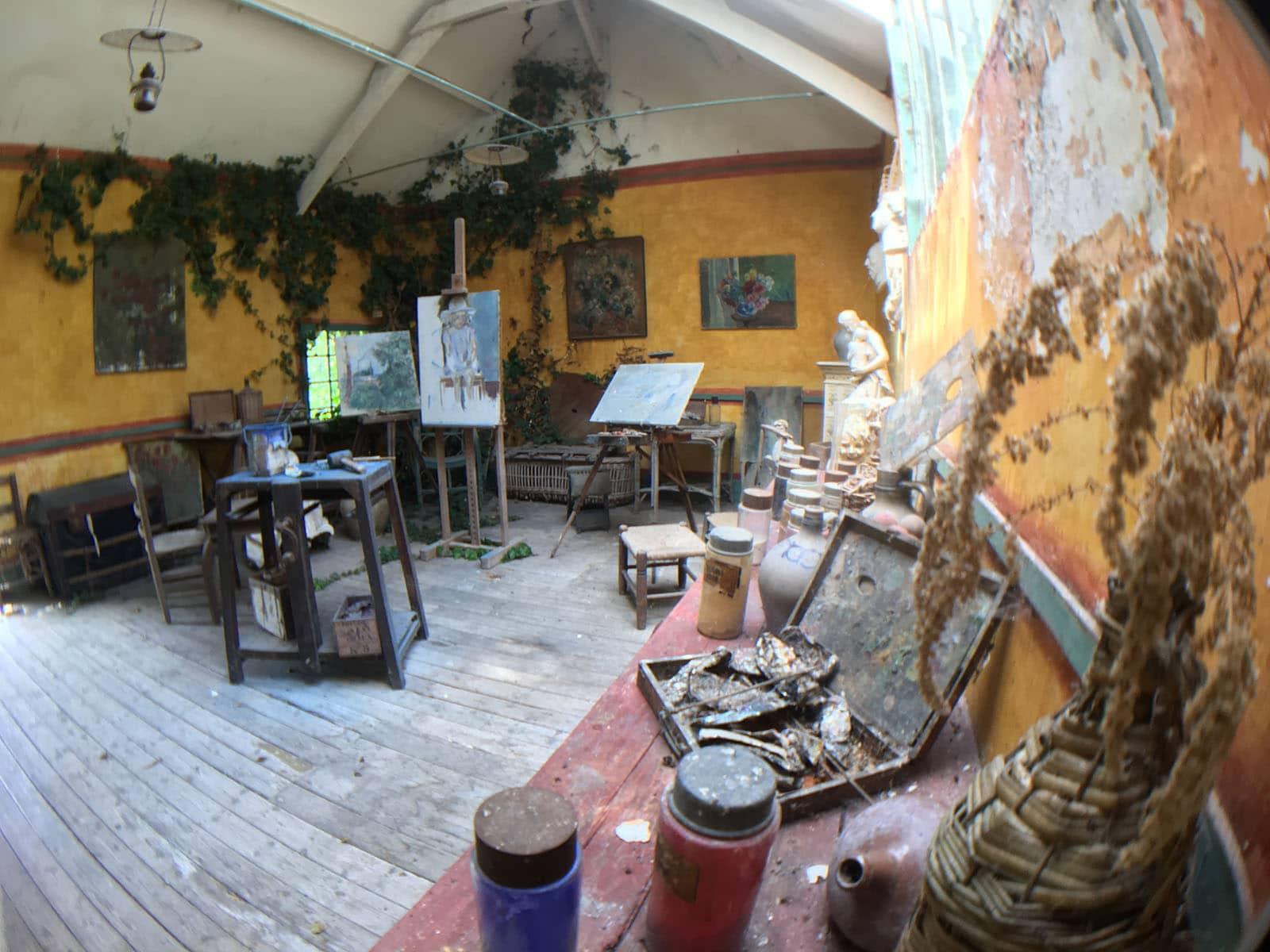 Atelier de l'ancien Hôtel Baudy à Giverny © G.BOUGET
