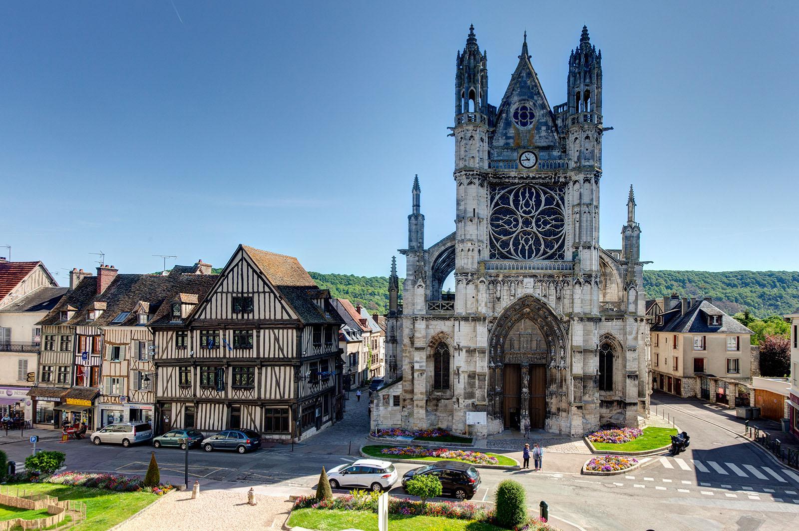Collégiale Notre-Dame et Maison du Temps Jadis à Vernon -©Franck Godard