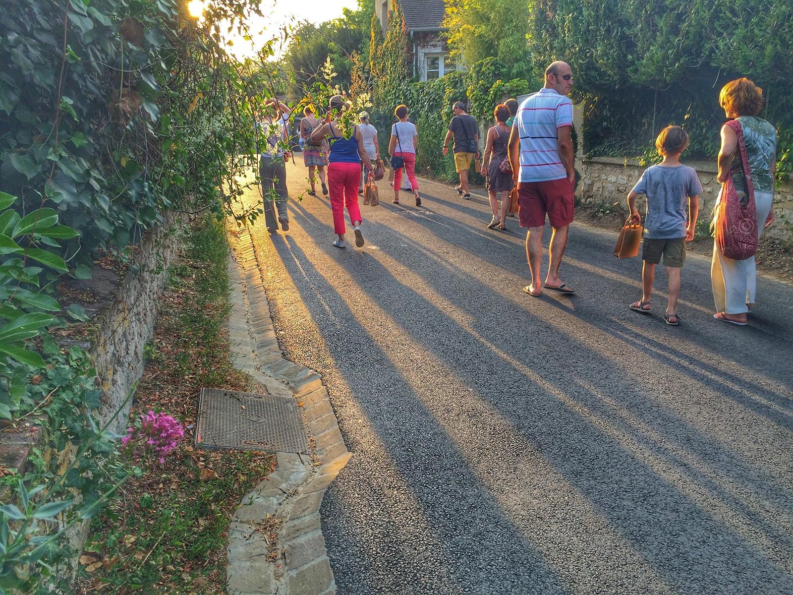 Touristes à Giverny